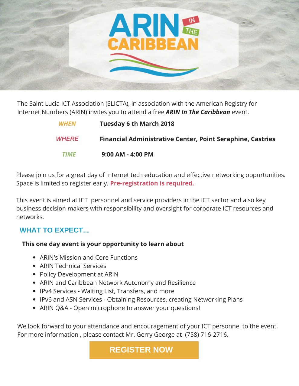 Register for ARIN in the Caribbean